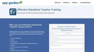 Effective Substitute Teacher Training - App-Garden