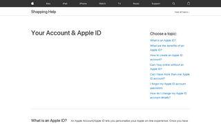 Your Account & Apple ID - Shopping Help - Apple (UK)