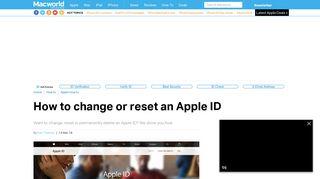 How to change, reset or delete an Apple ID - Macworld UK