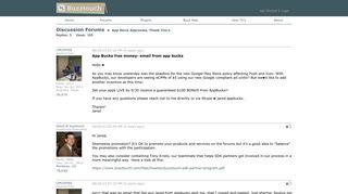 App Bucks free money- email from app bucks - Buzztouch