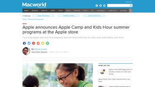 Apple announces Apple Camp and Kids Hour summer programs at ...