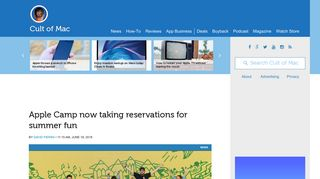 Apple Camp now taking reservations for summer fun | Cult of Mac