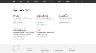 Your Account - Apple (CA)