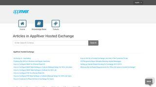 AppRiver Hosted Exchange - Portal - AppRiver