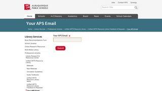 Your APS Email — Albuquerque Public Schools