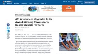 ARI Announces Upgrades to Its Award-Winning Powersports Dealer ...