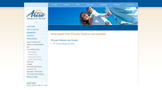 Arise Health Plan Provider Portal is now available