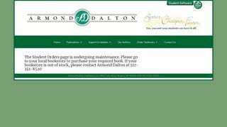 Student Orders | Armond Dalton Publishers