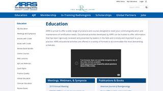 Education Home - American Roentgen Ray Society