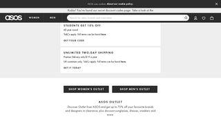ASOS US Discount Codes, Promo Codes & Coupons | ASOS