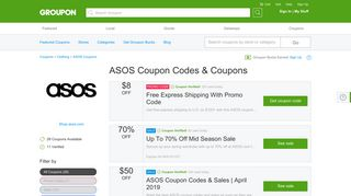 70% off ASOS Coupons, Promo Codes & Deals 2019 - Groupon