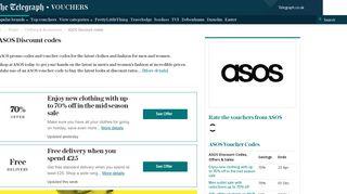 Asos discount codes: £30 off deals - The Telegraph