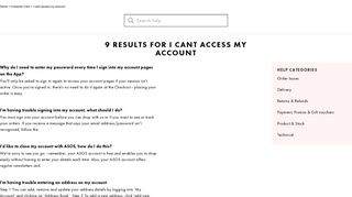 9 Results for i cant access my account - ASOS | Shop women's fashion ...