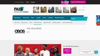 10% off at ASOS - NUS