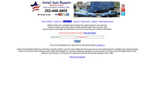 Login to your Astral Account - Astral Auto Repairs