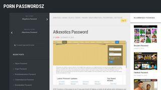 Atkexotics Password – Porn PasswordsZ