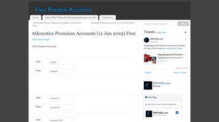 Atkexotics Premium Accounts