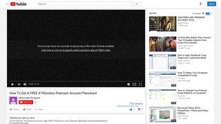 How To Get A FREE ATKExotics Premium Account Password - YouTube