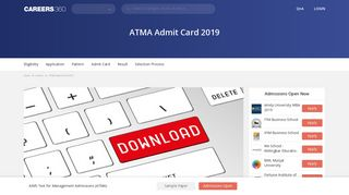 ATMA Admit Card 2019 / Hall Ticket (February Exam) - Check Here