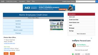 Atomic Employees Credit Union - Piketon, OH - Credit Unions Online