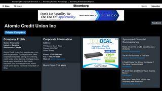 Atomic Credit Union Inc: Company Profile - Bloomberg