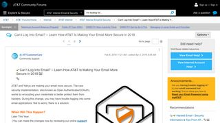 Solved: Can't Log Into Email? – Learn How AT&T Is Making Y... - AT ...