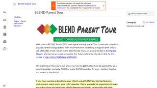 AISD BLEND Parent Tour
