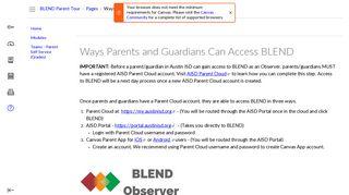Ways Parents and Guardians Can Access BLEND: BLEND Parent ...