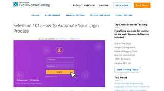Selenium 101: How To Automate Your Login Process ...
