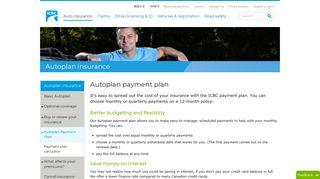 Autoplan payment plan - ICBC