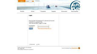 AutoPlan - Professional Fleet Management - Login