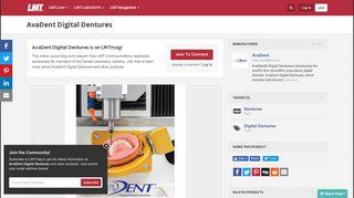 LMTmag | AvaDent Digital Dentures