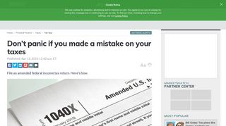 Don't panic if you made a mistake on your taxes - MarketWatch