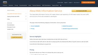 AWIS - AWS - Amazon.com