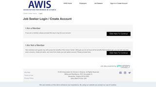 Job Seeker Sign Up and Login - AWIS Career Center