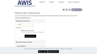 Login or Register to Post Jobs - AWIS Career Center