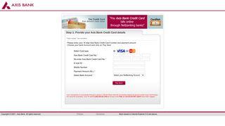 Axis Bank CardNet - BillDesk