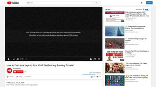 How to First time login to Axis ASAP NetBanking- Banking Tutorial ...