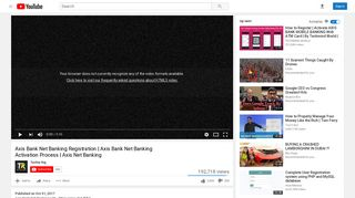 Axis Bank Net Banking Registration   Axis Bank Net ... - YouTube