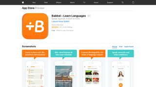 Babbel – Learn Languages on the App Store - iTunes - Apple