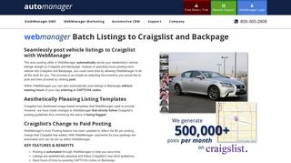 Batch Listings to Craigslist and Backpage - AutoManager