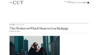 7 Sex Workers on What It Means to Lose Backpage - The Cut