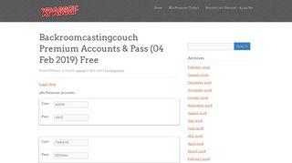 Backroomcastingcouch Premium Accounts & Pass - xpassgf