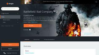 Battlefield: Bad Company™ 2 for PC | Origin