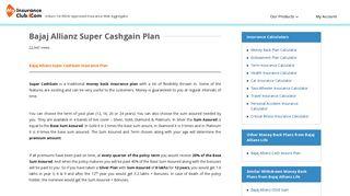 Bajaj Allianz Super CashGain Plan - Review & Key Features ...