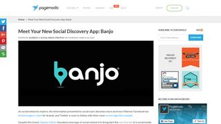 Meet Your New Social Discovery App: Banjo   Pagemodo Blog