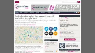 Banjo gives journalists free access to its social media discovery ...