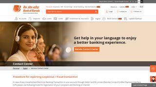 Contact Center - Bank of Baroda