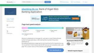 Access ebanking.bk.rw. Bank of Kigali Web-Banking Application