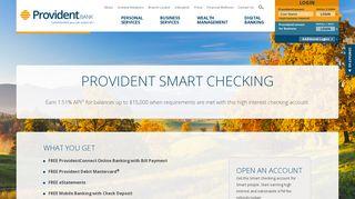 Free Smart Checking Account | Provident Bank NJ - PA